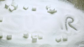 Socker och sockerkuber stock video