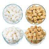Socker på vit Arkivbilder