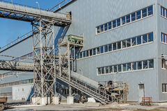 Sockerbetafabrik - industribyggnad Royaltyfria Bilder