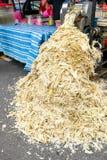 Sockerrörbagasse kan återanvändas som papper, bränsle, förnybar ener Arkivfoton