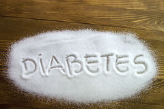SOCKERSJUKA som är skriftlig på socker royaltyfri bild