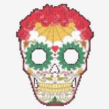 Sockerskalle Dag av den döda färgrika skallen Arkivbild