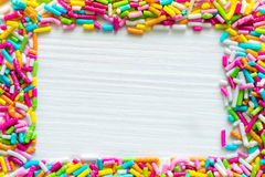 Sockerstänkprickar, garnering för kaka och bageri Royaltyfri Foto