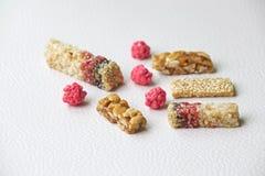 Sockerstång med sesam och jordnöten Royaltyfri Foto