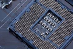 Socket 1156 de la CPU fotografía de archivo