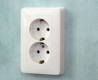 The socket 220v Royalty Free Stock Photo