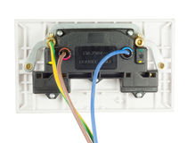 Socket atado con alambre Fotografía de archivo