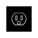 Socket black color icon . Royalty Free Stock Photos
