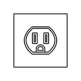 Socket black color icon . Royalty Free Stock Images