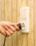 Socket blanco eléctrico Fotografía de archivo
