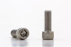 Socket cap screw. Closeup socket cap screw on white background Royalty Free Stock Image