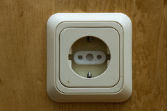 Socket with child protection stock images