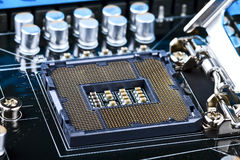 Socket de la CPU Fotografía de archivo