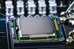 Socket de la CPU Imagenes de archivo
