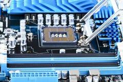 Socket de la CPU Fotografía de archivo libre de regalías