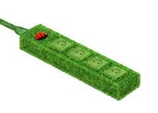 Socket de potencia verde Imagenes de archivo