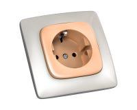 Socket del enchufe Fotografía de archivo libre de regalías