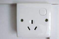 socket del enchufe de 3 contactos Imagen de archivo libre de regalías