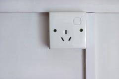 socket del enchufe de 3 contactos foto de archivo