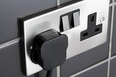 Socket del enchufe en cocina Imagen de archivo libre de regalías
