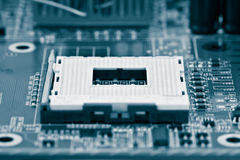 Socket del procesador Fotos de archivo libres de regalías