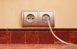 Socket eléctrico Imágenes de archivo libres de regalías