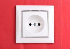 Socket eléctrico blanco Fotografía de archivo