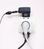 Socket eléctrico lleno Imagenes de archivo
