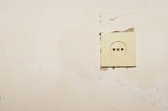 Socket en la pared Imágenes de archivo libres de regalías