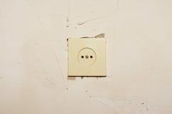 Socket en la pared Foto de archivo libre de regalías