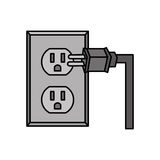 Socket energy isolated icon Royalty Free Stock Images