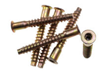 Socket hex head screws. Stock Image