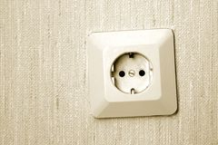Socket On Wall Royalty Free Stock Image