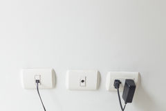 Socket and plug other devices Royalty Free Stock Images