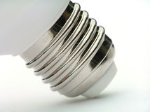 Socket of power saving light bulb Royalty Free Stock Photo