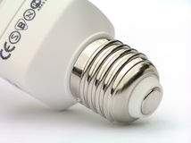 Socket of power saving light bulb Royalty Free Stock Photography