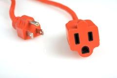Socket que se ejecuta lejos del enchufe de potencia Imagen de archivo