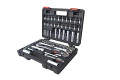 Socket Set. Made from high quality chrome vanadium alloy Royalty Free Stock Image