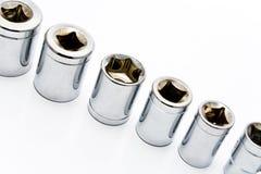 Socket set for spanner Stock Images