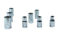 Socket set for spanner on white. Torx Socket set for spanner on white background Stock Image