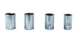 Socket set for spanner on white. Torx Socket set for spanner on white background stock photography