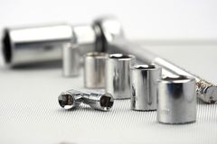 Socket spanner set Stock Photos