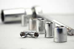 Socket spanner set Royalty Free Stock Photos