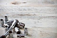 Socket spanner wrench Stock Photo