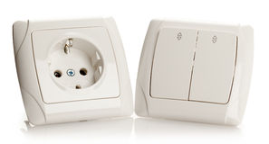 Socket and Switch Royalty Free Stock Image