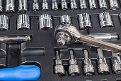 Socket And tool set Royalty Free Stock Photo