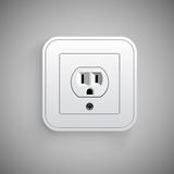 Socket, vector. Electrical outlet. Royalty Free Stock Photography