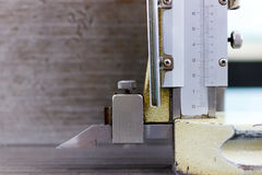 Socket with vernier callipers Stock Photo