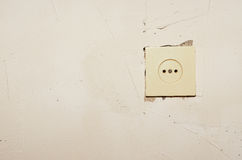 Socket in the wall Royalty Free Stock Images