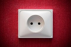 The socket in a wall Royalty Free Stock Images